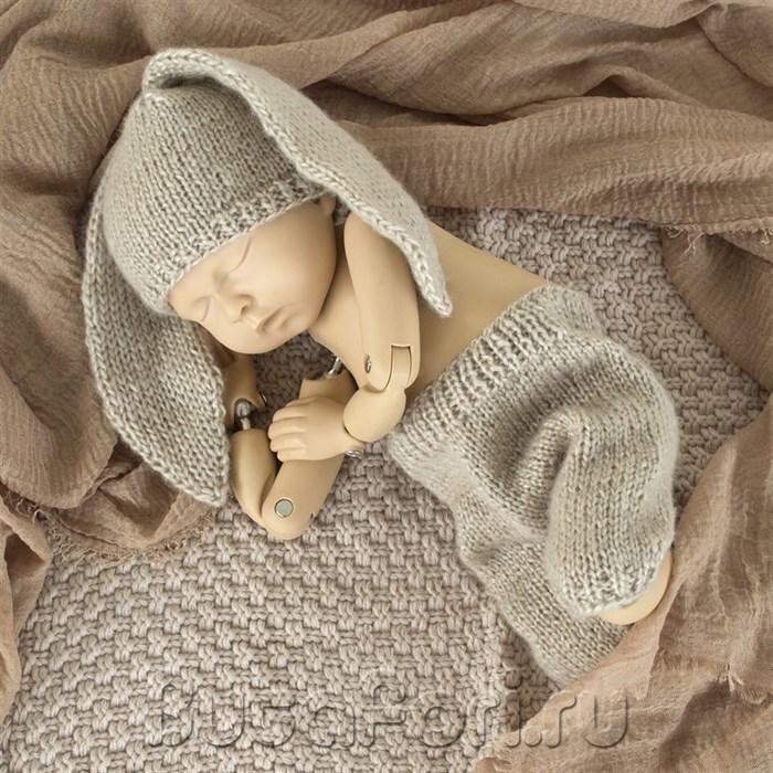 Костюмчик для фотосессии новорожденного - Летний зайчик