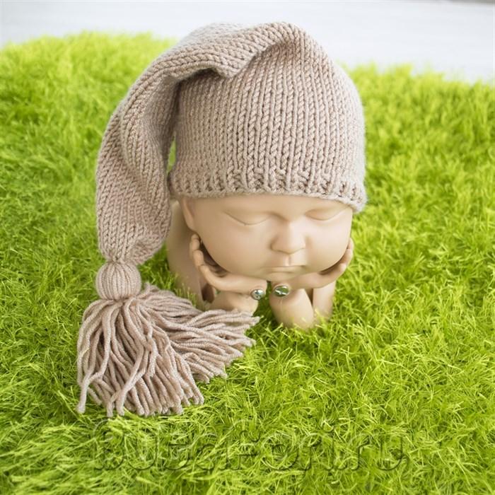 Коричневый колпачок для фотосессии новорожденного