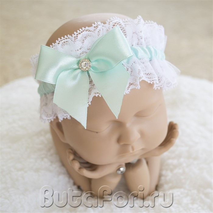 Повязочка на голову новорожденного для фотосессии