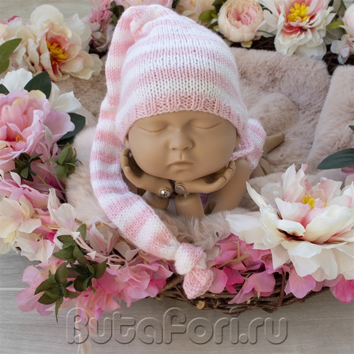 Вязаный колпак для фотосессии новорожденных