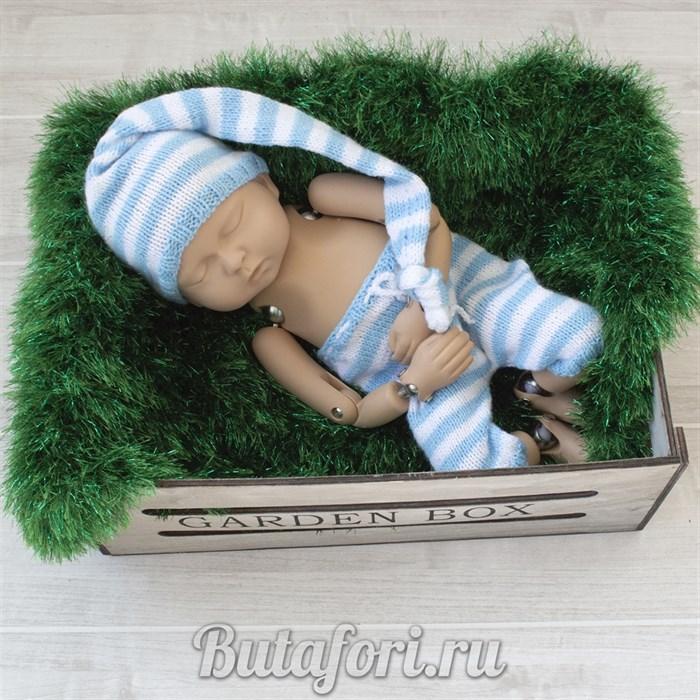Одежда для фотосессии новорожденных - полосатый костюмчик