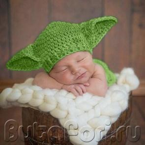 Йода костюм для новорожденного