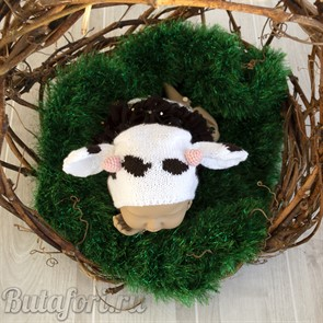 Вязаный костюмчик коровка