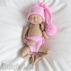 Розовый костюмчик для фотосессии новорожденных
