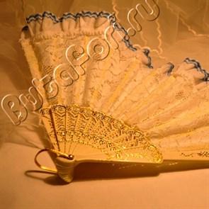 Свадебный кружевной веер