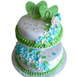 """Свадебный торт """"Незабудка"""""""