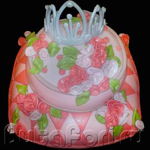 свадебный торт декорированный мастикой