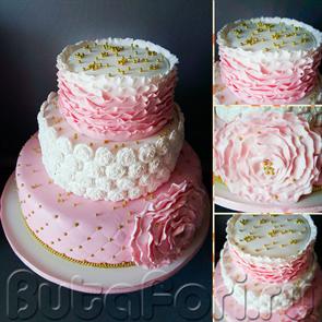 Шикарный торт с эффектом омбре