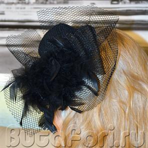 шляпка женская на зажимах
