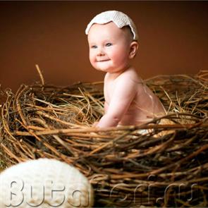 гнездо для съемки малыша