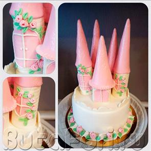 Торт свадебный в виде башенок