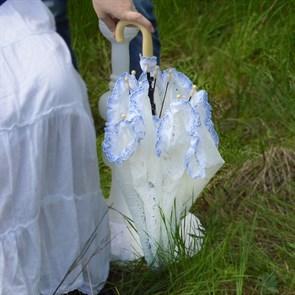 Зонт кружевной свадебный
