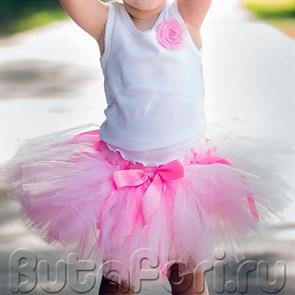 юбка пачка для девочки розовая