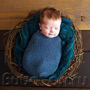 Плетеное гнездо для съемки новорожденного