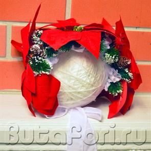 Новогодняя цветочная шапочка для съемки младенца