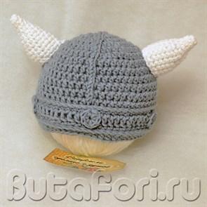 Шлем викинга для новорожденного