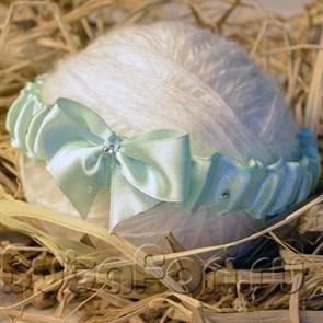 Повязка на голову новорожденному Бантик