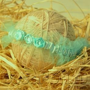 Повязка Бирюза для фотосессии новорожденных