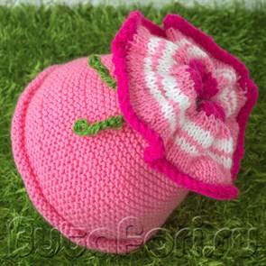 Вязаная крючком шапочка Петуния для newborn