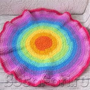 Цветной коврик для фотосессии новорожденных