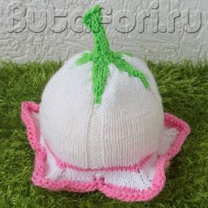 Вязаная шапочка для фотосессии новорожденных Лилия