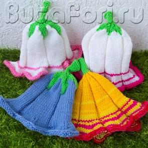 Комплект цветочных шапочек для фотосессии новорожденных