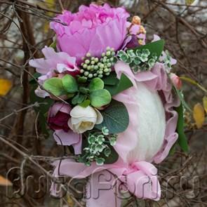 Розовая цветочная шапочка
