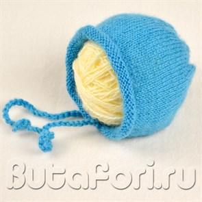 Мохеровая шапочка для фотосессии новорожденных