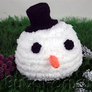 """Мягкая шапочка для новогодней фотосессии новворожденных """"Снежный ком"""""""