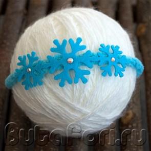 Голубая повязочка для новорожденного