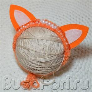 Повязочка для фотосессии новорожденных - Лисьи ушки