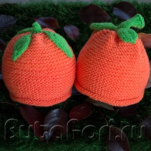 Шапочки для близнецов Апельсин