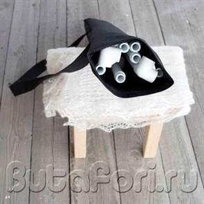 Черная сумка для квадратного держателя фона