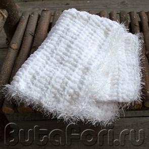 Белый коврик для фотосессии новорожденных