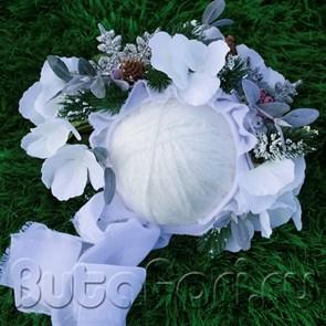 Новогодняя цветочная шапочка для фотосессии новорожденного