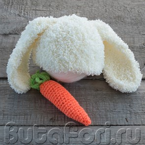 Шапочка кролика для newborn съемки
