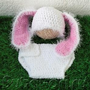 Одежда для фотосессии новорожденного - Кролик большие ушки