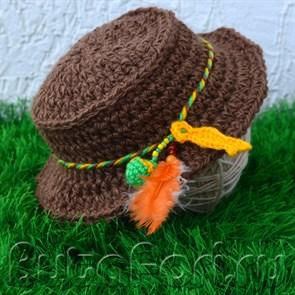 Шляпа рыбака для фотосессии новорожденного