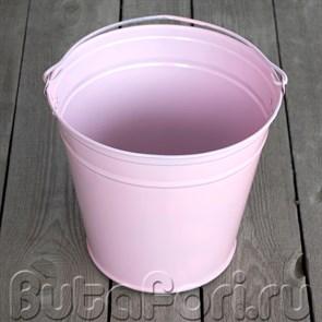 Розовое ведерко для новорожденных