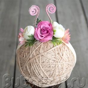 Повязка на голову новорожденного - Букашечка
