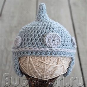 Шлем Богатыря для фотосессии новорожденного