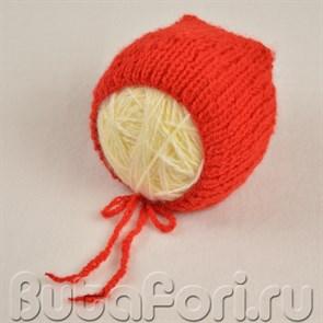 Красная шапочка для фотосессии новорожденного