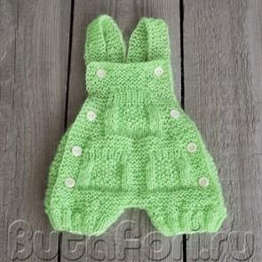 Зеленый ромпер для фотосессии новорожденных