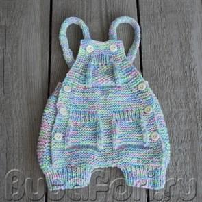 Радужный ромпер для новорожденного