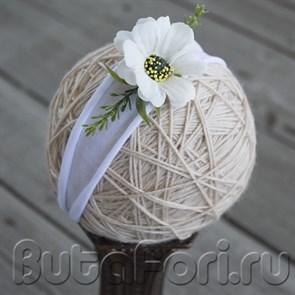 Повязочка Белый цветок для фотосессии