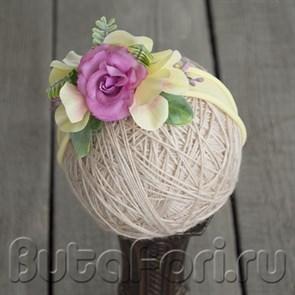 Цветочная повязочка для фотосессии новорожденного - Синтяйчик