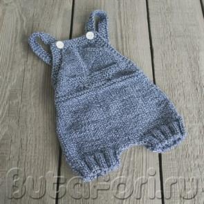 Вязаные штанишки для фотосессии новорожденных