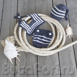 Костюмчик морячка для фотосессии новорожденных