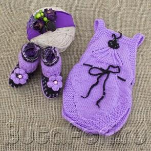 Фиолетовый костюмчик Виолетта для фотосессии