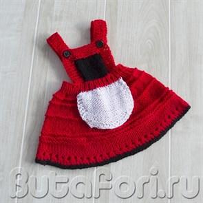 Вязаное платье Красной шапочки